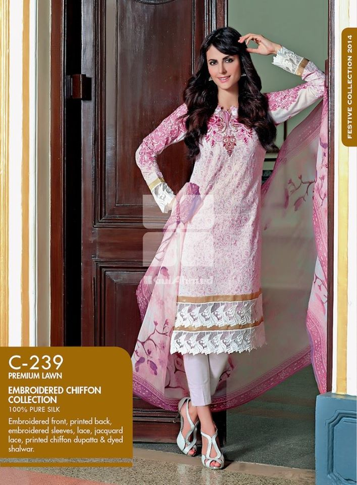 Women Latest Collection of Formal Wear Fancy * Embroidered Festive Dresses By Gul Ahmed (1)