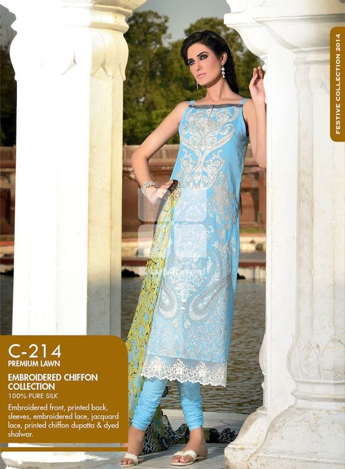 Women Latest Collection of Formal Wear Fancy * Embroidered Festive Dresses By Gul Ahmed (11)