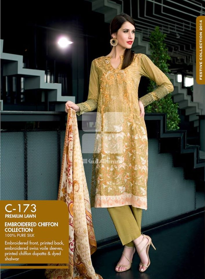 Women Latest Collection of Formal Wear Fancy * Embroidered Festive Dresses By Gul Ahmed  (12)