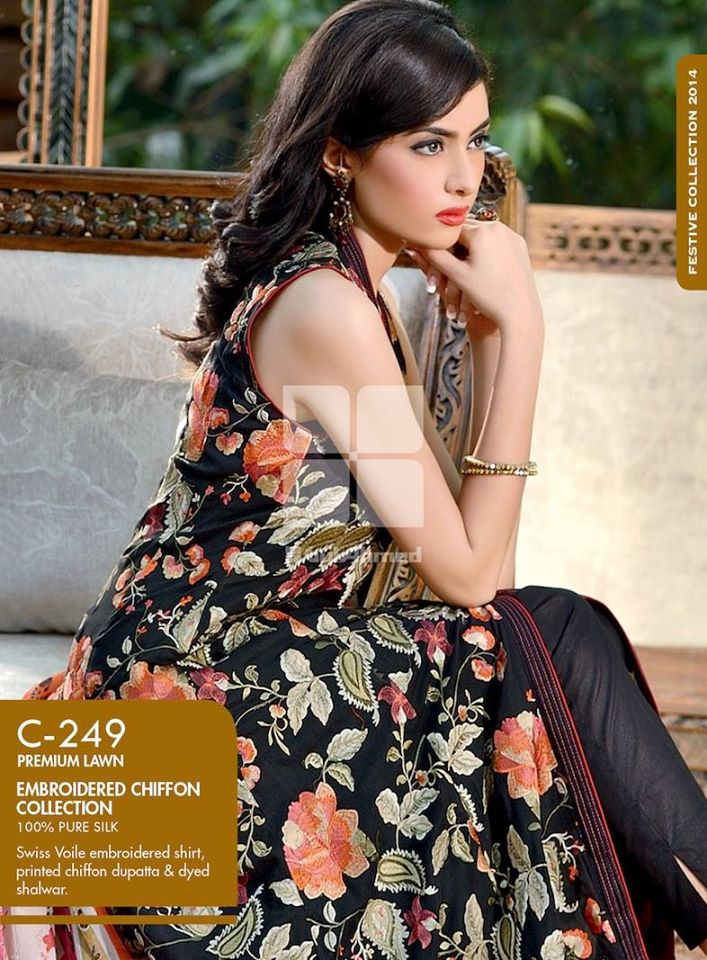 Women Latest Collection of Formal Wear Fancy * Embroidered Festive Dresses By Gul Ahmed (14)