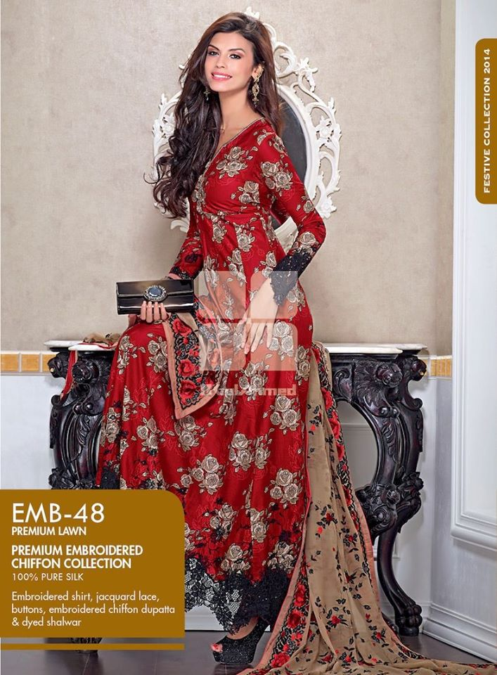 Women Latest Collection of Formal Wear Fancy * Embroidered Festive Dresses By Gul Ahmed  (15)
