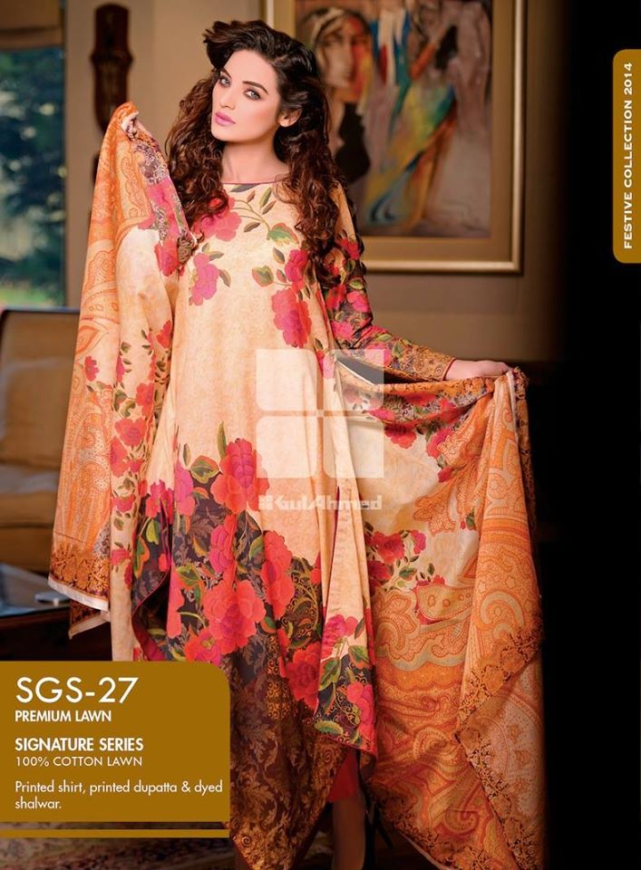 Women Latest Collection of Formal Wear Fancy * Embroidered Festive Dresses By Gul Ahmed (19)