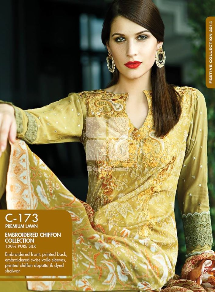Women Latest Collection of Formal Wear Fancy * Embroidered Festive Dresses By Gul Ahmed (2)
