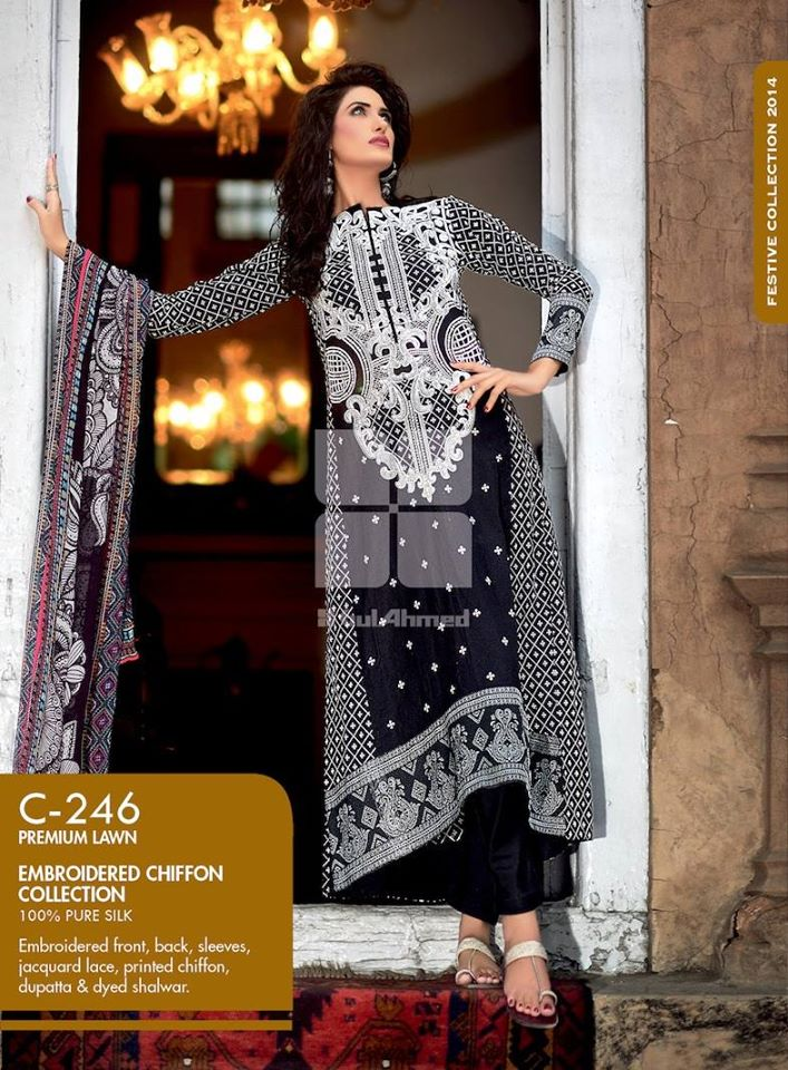 Women Latest Collection of Formal Wear Fancy * Embroidered Festive Dresses By Gul Ahmed  (20)
