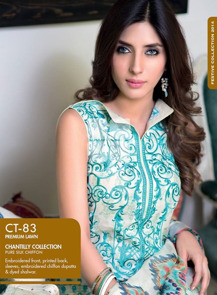Women Latest Collection of Formal Wear Fancy * Embroidered Festive Dresses By Gul Ahmed (21)