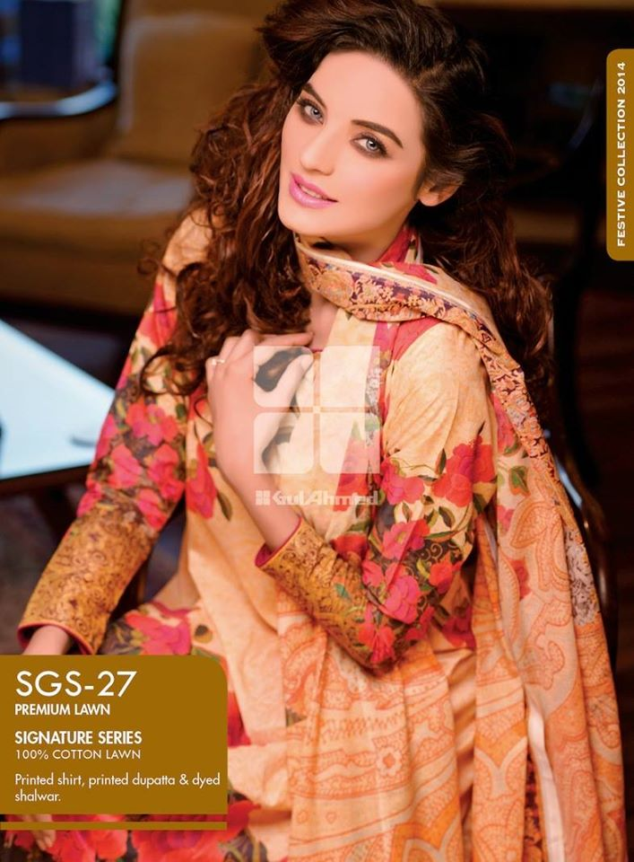 Women Latest Collection of Formal Wear Fancy * Embroidered Festive Dresses By Gul Ahmed (22)