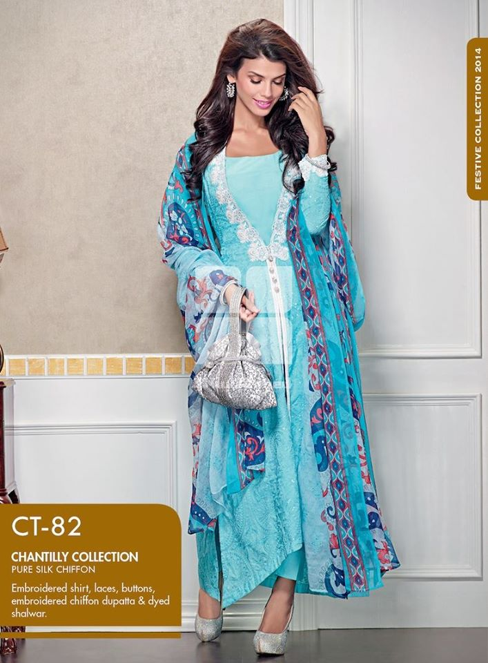 Women Latest Collection of Formal Wear Fancy * Embroidered Festive Dresses By Gul Ahmed (23)