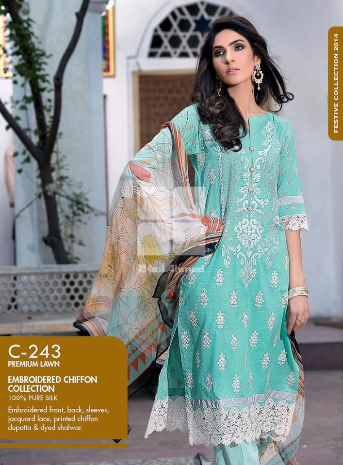 Women Latest Collection of Formal Wear Fancy * Embroidered Festive Dresses By Gul Ahmed (24)