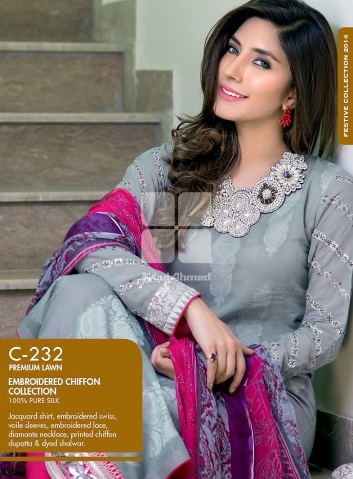 Women Latest Collection of Formal Wear Fancy * Embroidered Festive Dresses By Gul Ahmed (25)