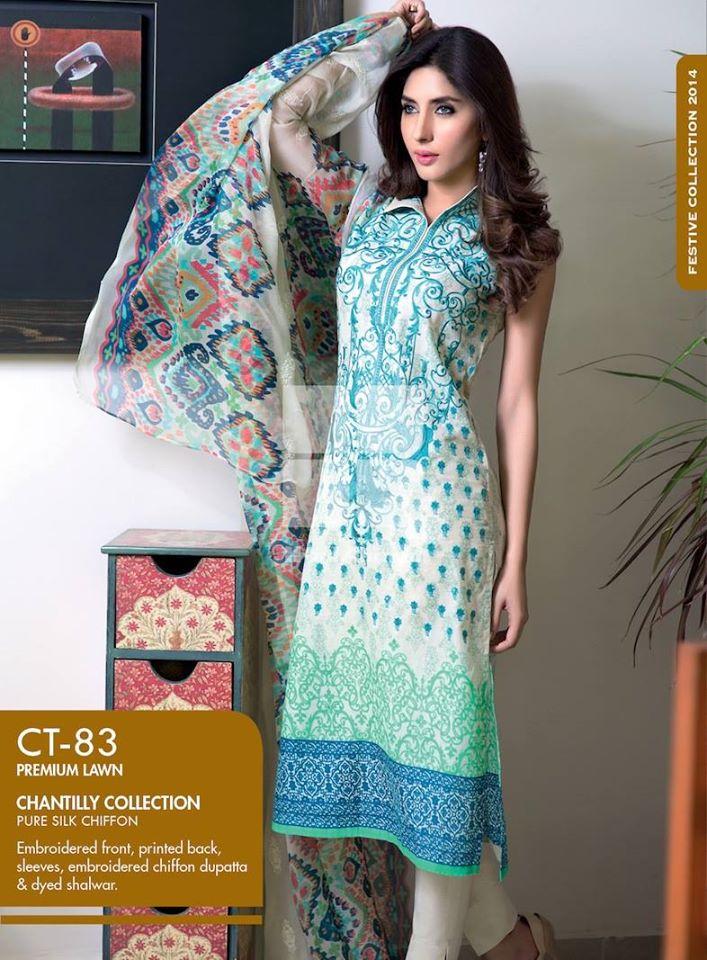 Women Latest Collection of Formal Wear Fancy * Embroidered Festive Dresses By Gul Ahmed