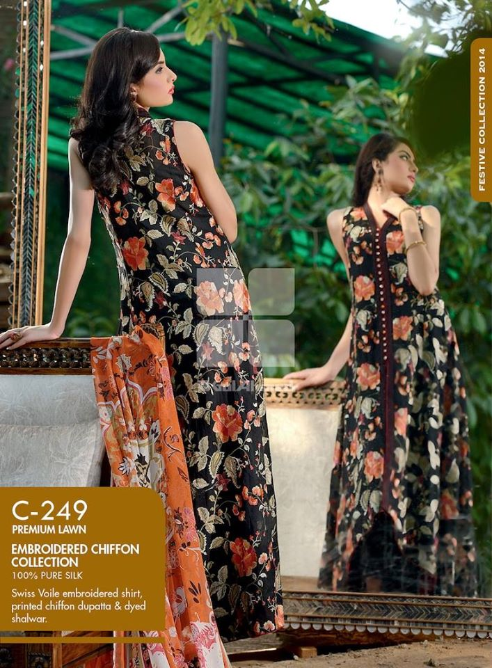 Women Latest Collection of Formal Wear Fancy * Embroidered Festive Dresses By Gul Ahmed (4)