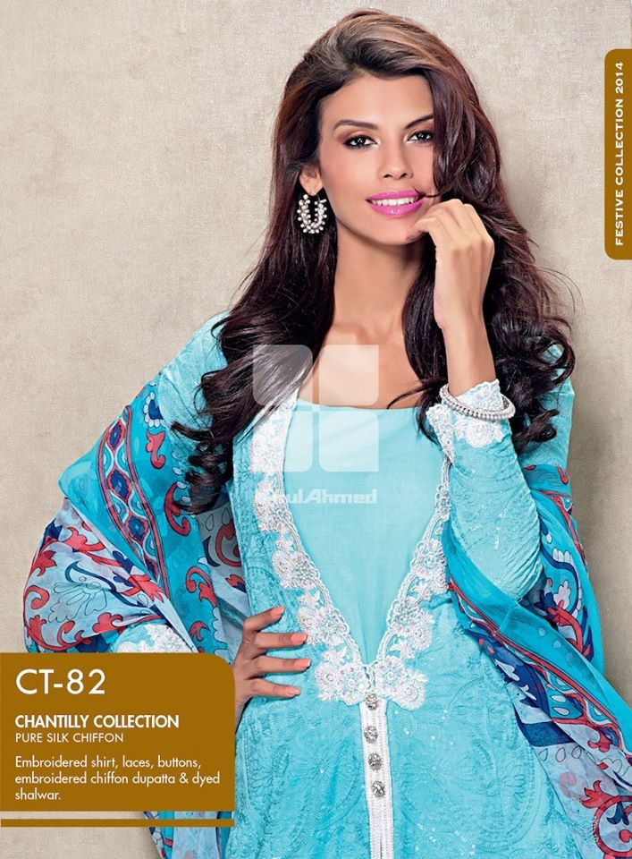 Women Latest Collection of Formal Wear Fancy * Embroidered Festive Dresses By Gul Ahmed  (6)