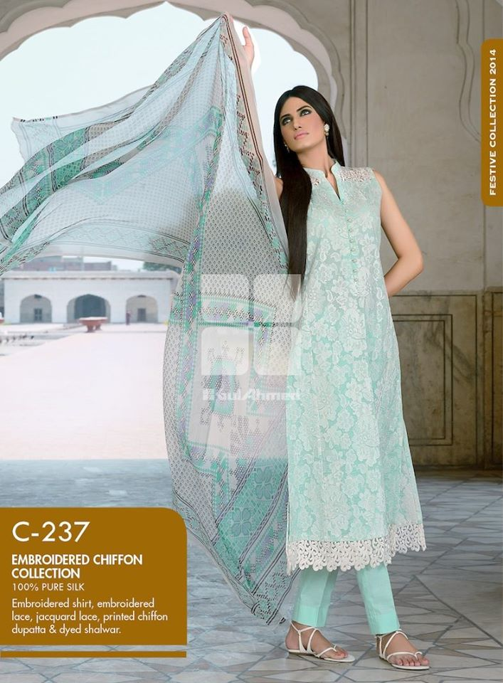 Women Latest Collection of Formal Wear Fancy * Embroidered Festive Dresses By Gul Ahmed (9)
