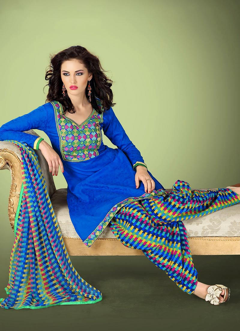 Latest Fashion of Designer Punjabi Dresses & Patiala Salwar Kameez Suits for Women (2)