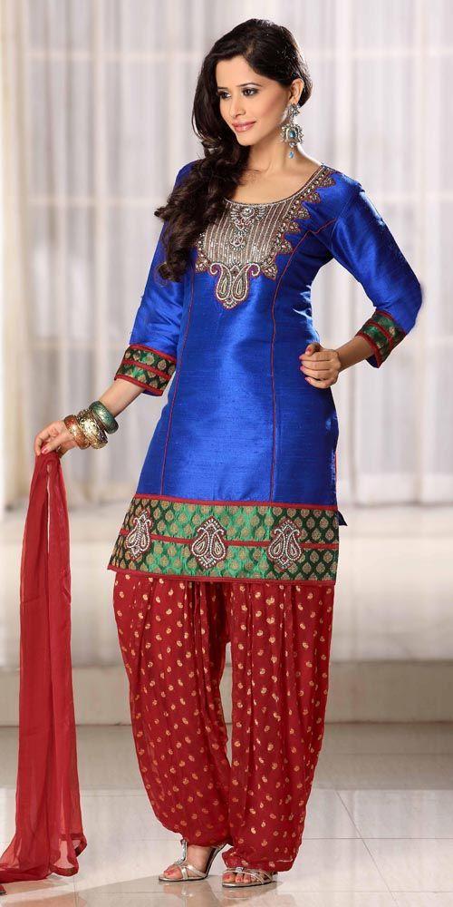 Latest Fashion of Designer Punjabi Dresses & Patiala Salwar Kameez Suits for Women@stylesgap (1)
