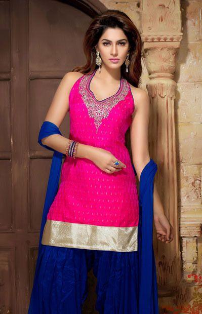 Latest Fashion of Designer Punjabi Dresses & Patiala Salwar Kameez Suits for Women@stylesgap (17)