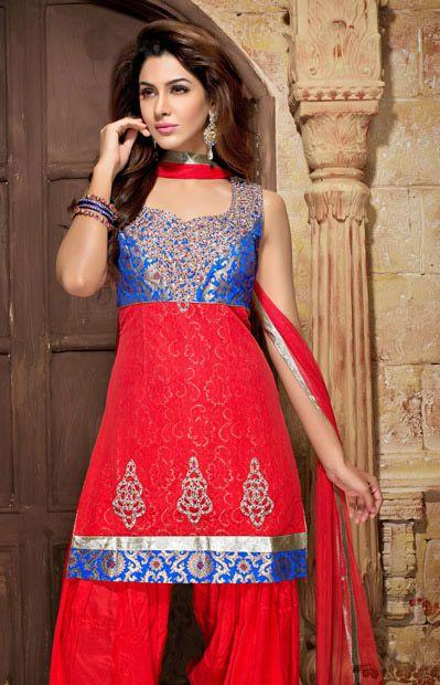 Latest Fashion of Designer Punjabi Dresses & Patiala Salwar Kameez Suits for Women@stylesgap (3)