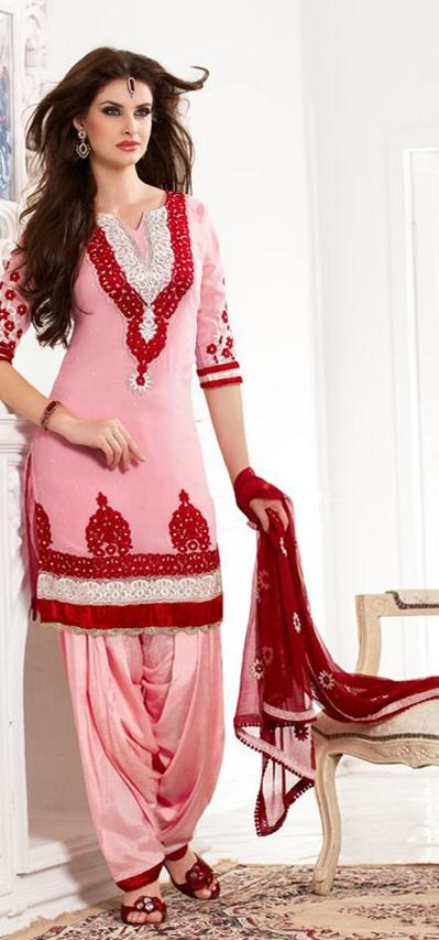 Latest Fashion of Designer Punjabi Dresses & Patiala Salwar Kameez Suits for Women@stylesgap (7)