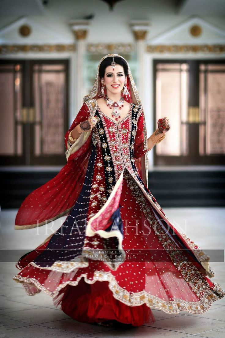 9a9a2c0046 Deep Red Bridal Dress Pakistani