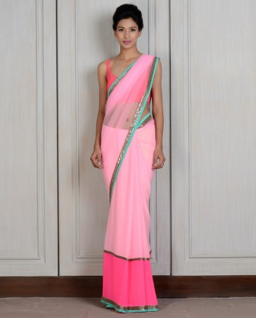 Manish Malhotra Latest Collection of Fancy and Embroidered Saree Designs for Women (1)