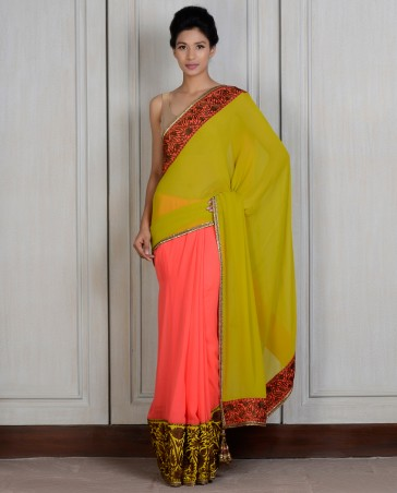 Manish Malhotra Latest Collection of Fancy and Embroidered Saree Designs for Women (10)