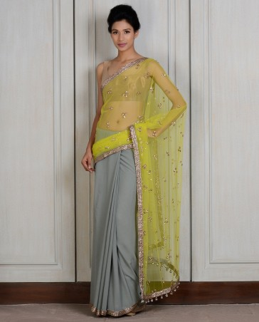 Manish Malhotra Latest Collection of Fancy and Embroidered Saree Designs for Women (14)