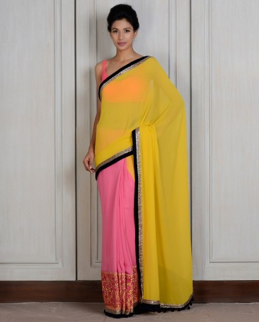 Manish Malhotra Latest Collection of Fancy and Embroidered Saree Designs for Women (15)