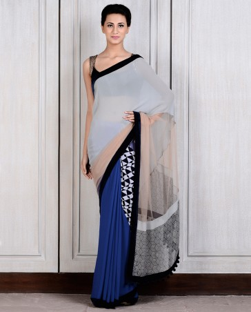 Manish Malhotra Latest Collection of Fancy and Embroidered Saree Designs for Women(17)