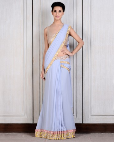 Manish Malhotra Latest Collection of Fancy and Embroidered Saree Designs for Women (21)