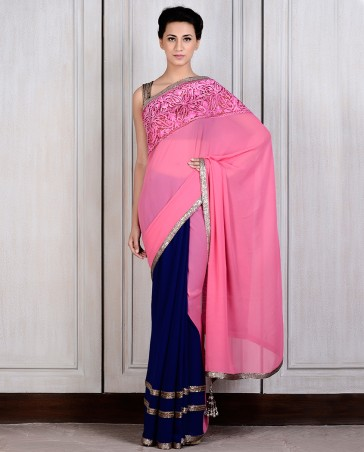 Manish Malhotra Latest Collection of Fancy and Embroidered Saree Designs for Women(23)