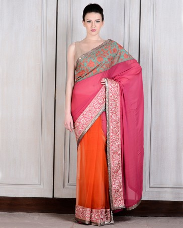 Manish Malhotra Latest Collection of Fancy and Embroidered Saree Designs for Women(27)