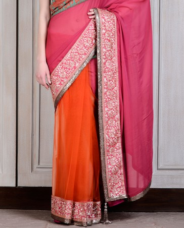 Manish Malhotra Latest Collection of Fancy and Embroidered Saree Designs for Women(28)