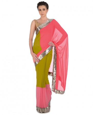 Manish Malhotra Latest Collection of Fancy and Embroidered Saree Designs for Women(3)