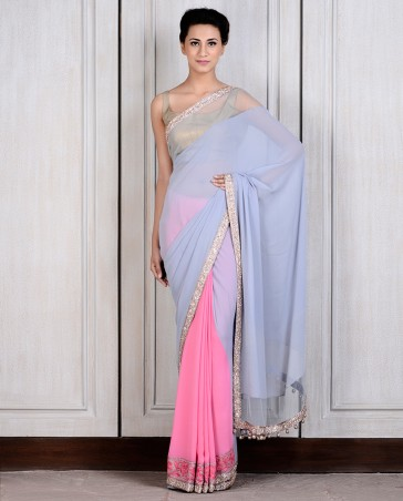 Manish Malhotra Latest Collection of Fancy and Embroidered Saree Designs for Women (30)