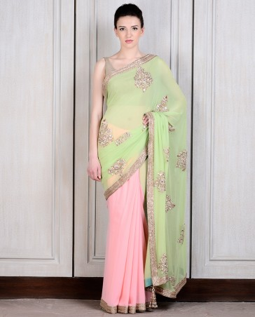 Manish Malhotra Latest Collection of Fancy and Embroidered Saree Designs for Women (35)