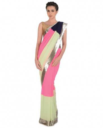 Manish Malhotra Latest Collection of Fancy and Embroidered Saree Designs for Women(6)