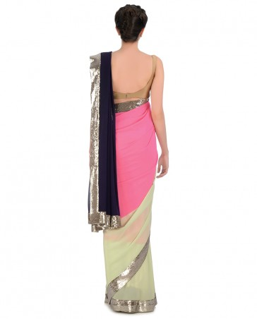 Manish Malhotra Latest Collection of Fancy and Embroidered Saree Designs for Women7)