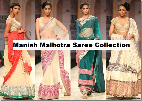 Manish Malhotra Latest Collection of Fancy and Embroidered Saree Designs for Women@stylesgap.com (1)