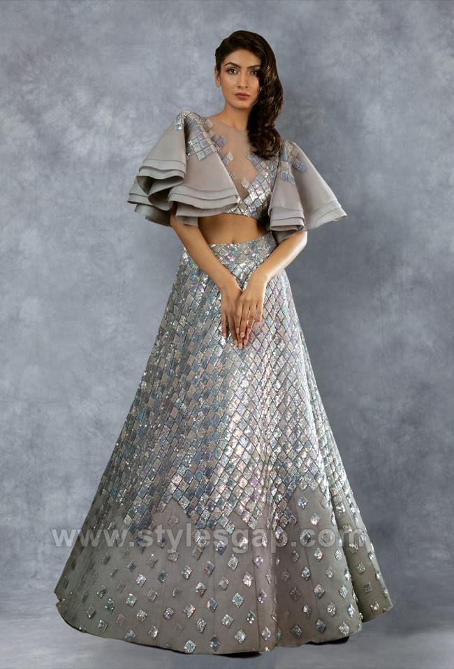 Manish Malhotra Stylish Crop Tops Skirts & Lehengas