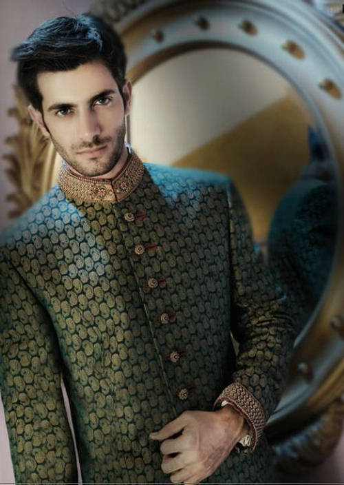 Latest Fashion Men Wedding Dresses & Sherwani Designs Collection by Amir Adnan(1)