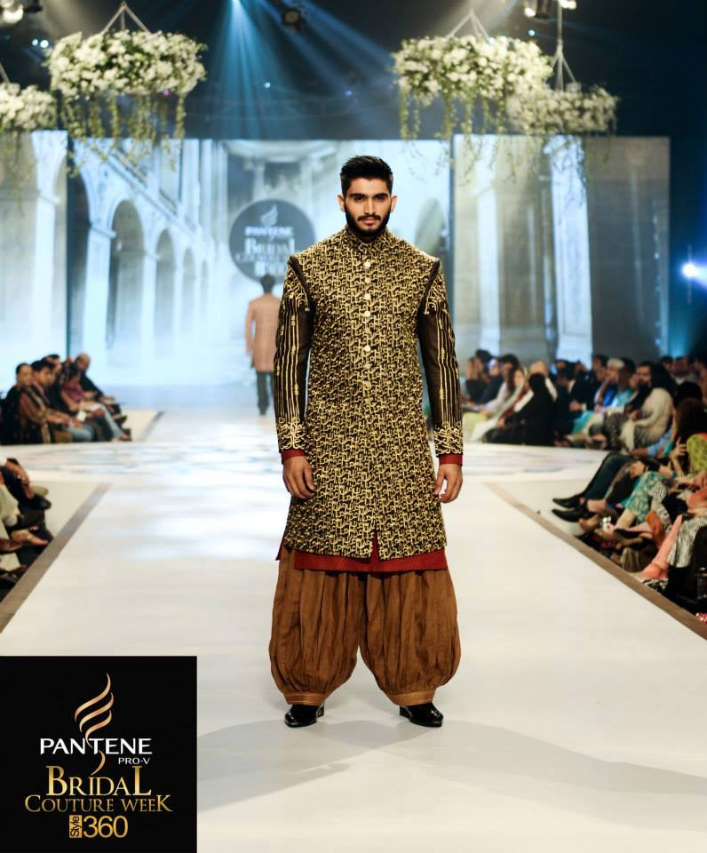 Latest Fashion Men Wedding Dresses & Sherwani Designs Collection by Amir Adnan(16)