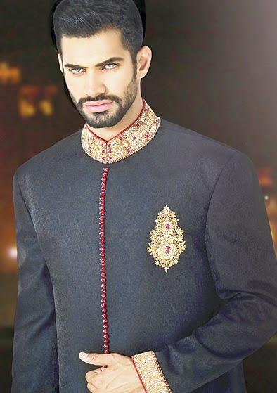 Latest Fashion Men Wedding Dresses & Sherwani Designs Collection by Amir Adnan(18)