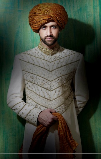 Latest Fashion Men Wedding Dresses & Sherwani Designs Collection by Amir Adnan (2)