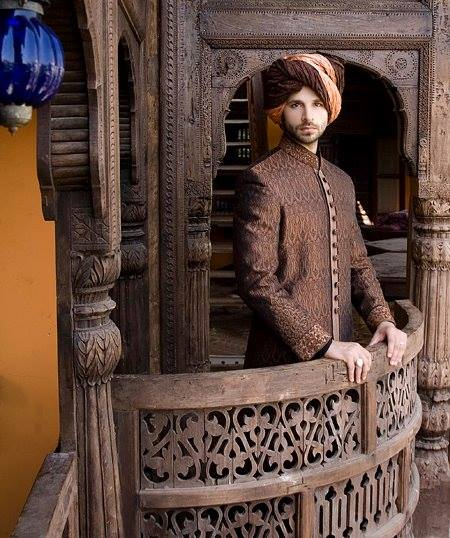 Latest Fashion Men Wedding Dresses & Sherwani Designs Collection by Amir Adnan(24)