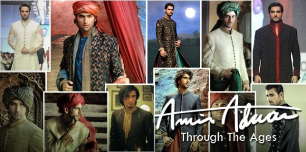 Latest Fashion Men Wedding Dresses & Sherwani Designs Collection by Amir Adnan (8)
