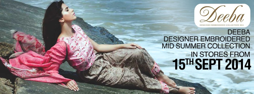 Deeb Designer embroidered Mid Summer Collection for Womedn by Sharq Textiles 2014-2015