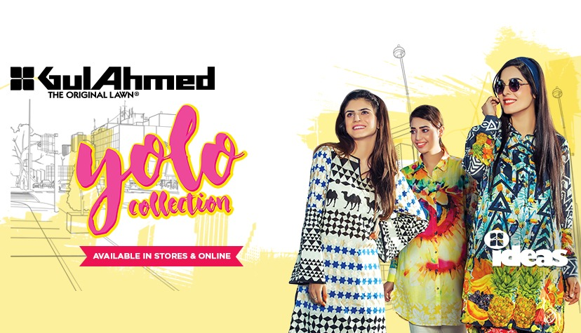 Latest Ladies Summer Shirts Gul Ahmed Yolo Collection (2)