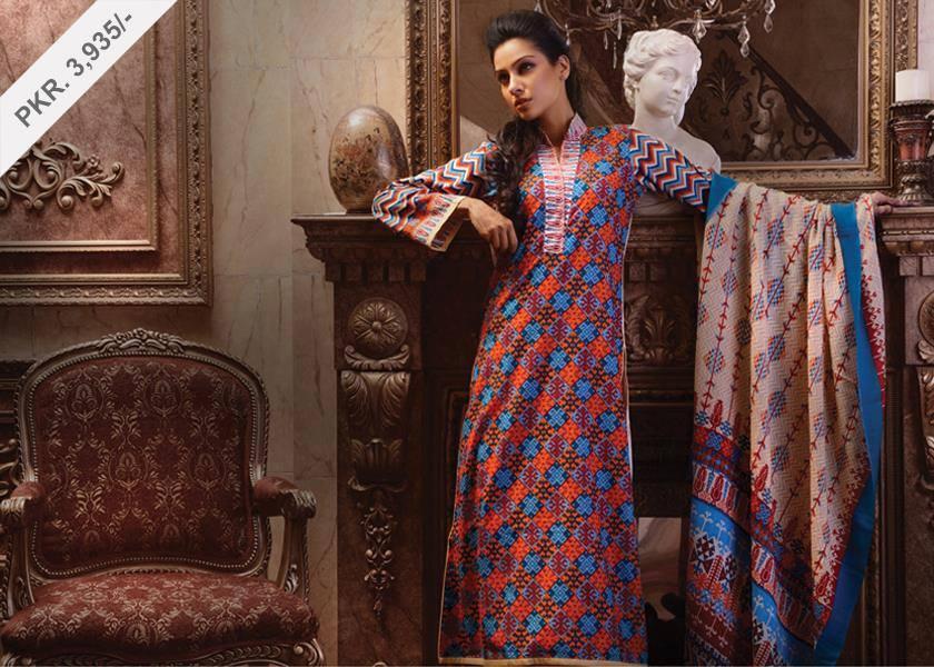Latest Women Best Pakistani & Indian  Winter Dresses Designs Collection 2014-2015 (13)