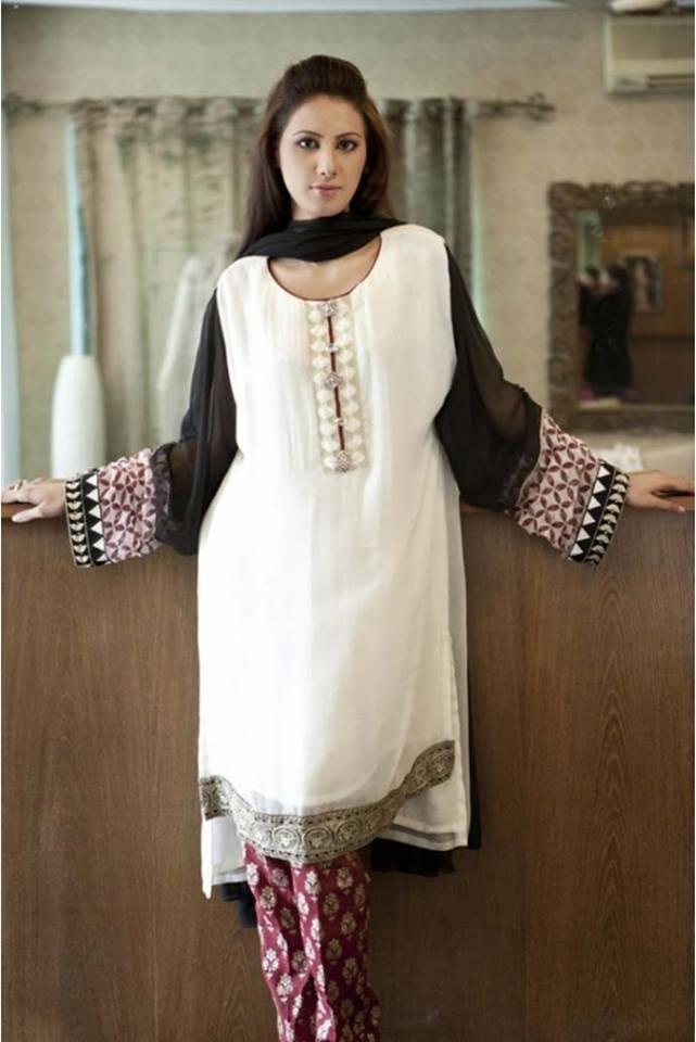 799191b23c2 Latest Women Best Pakistani   Indian Winter Dresses Designs Collection  2014-2015 (21)