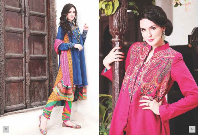 Latest Women Best Pakistani & Indian  Winter Dresses Designs Collection 2014-2015 (5)